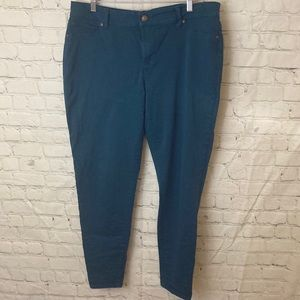 Maurices jeggings teal